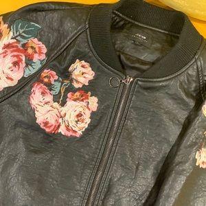💐Joe's Jeans Floral Print Leather Jacket💐